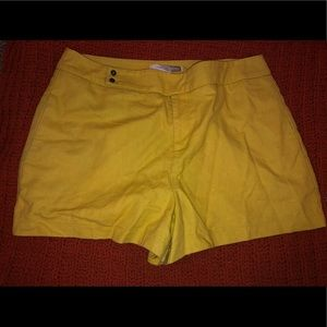 Yellow button shorts